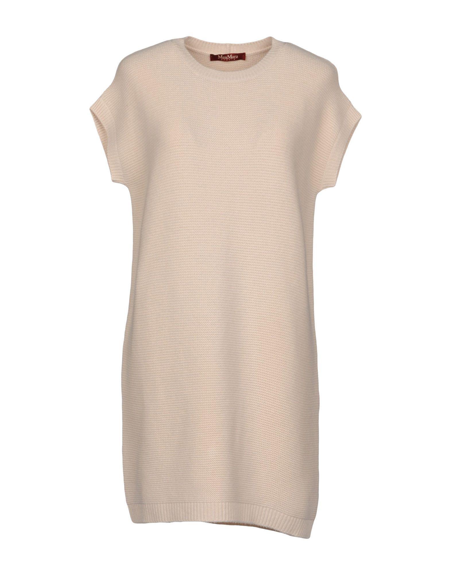 Max Mara Short Dresses In Beige