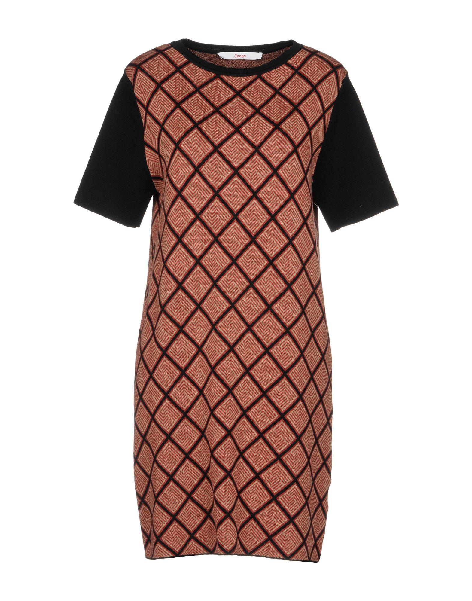 Jucca Short Dress In Brick Red
