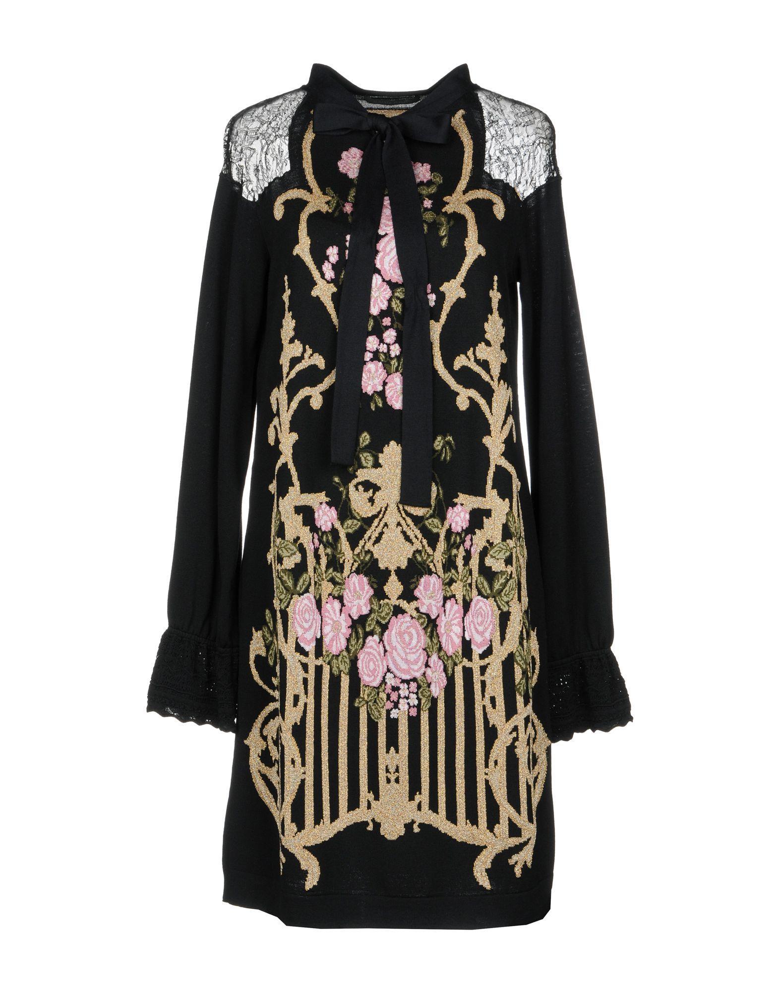 Alberta Ferretti Short Dress In Black