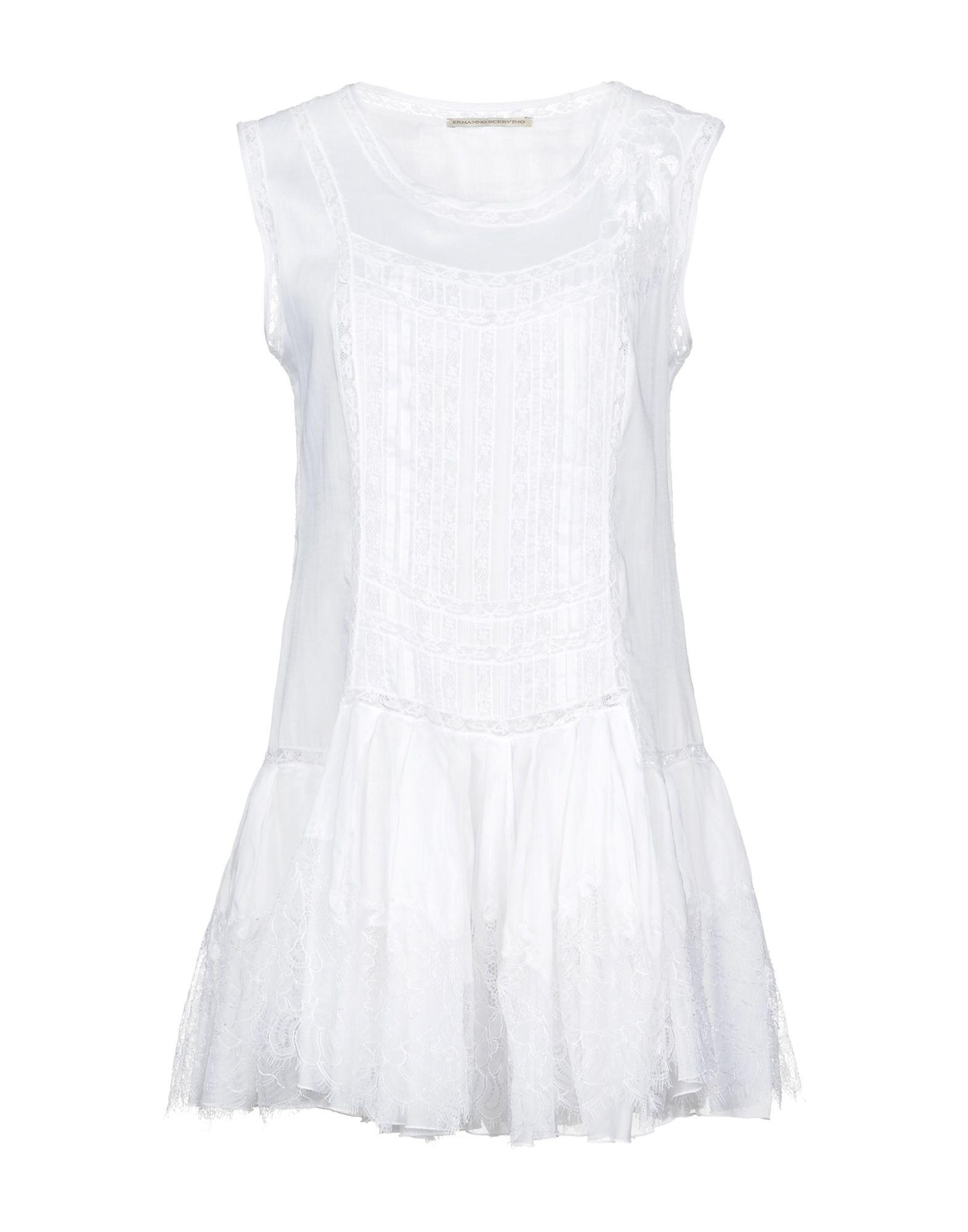 Ermanno Scervino Short Dress In White