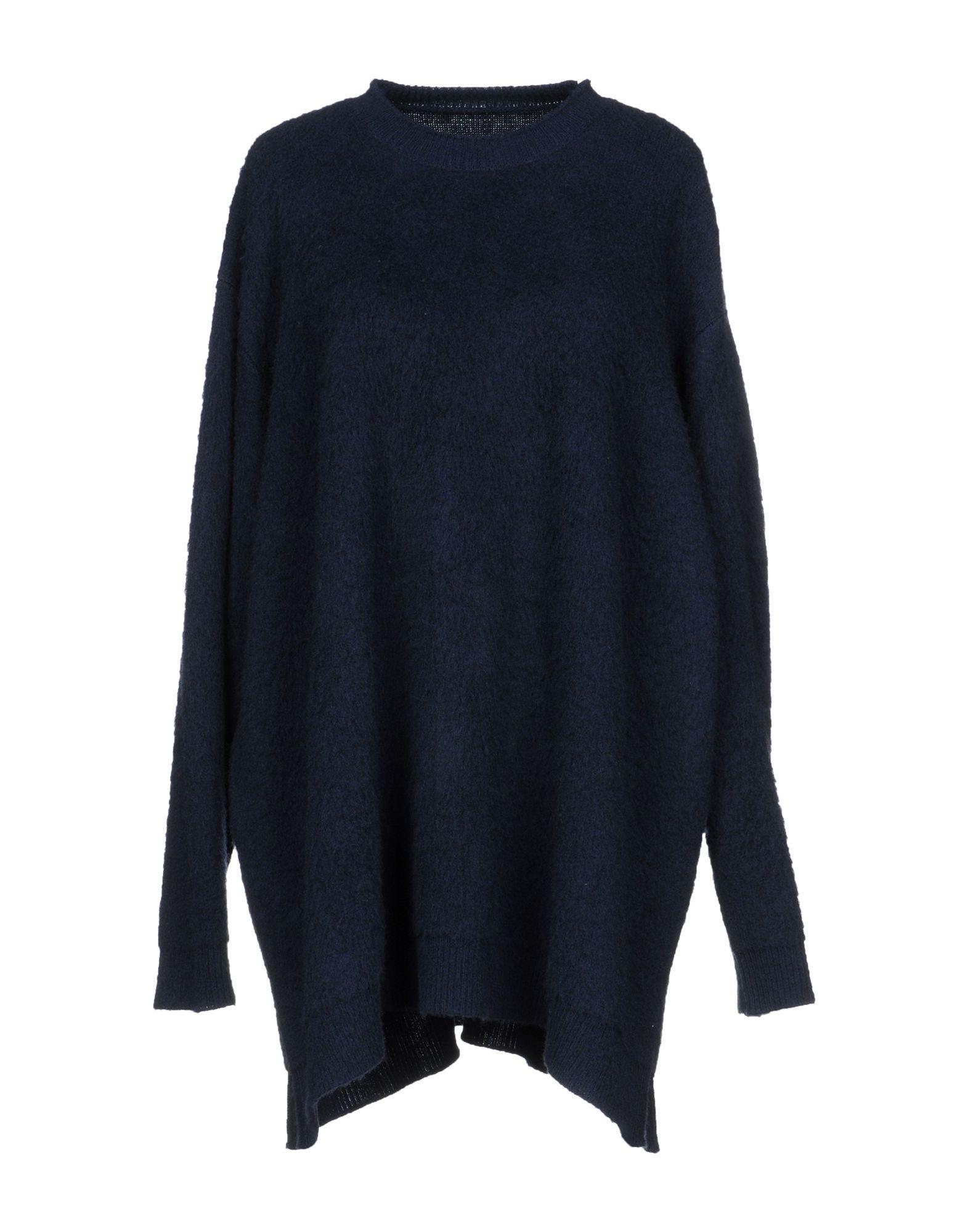 Mm6 Maison Margiela Short Dress In Dark Blue