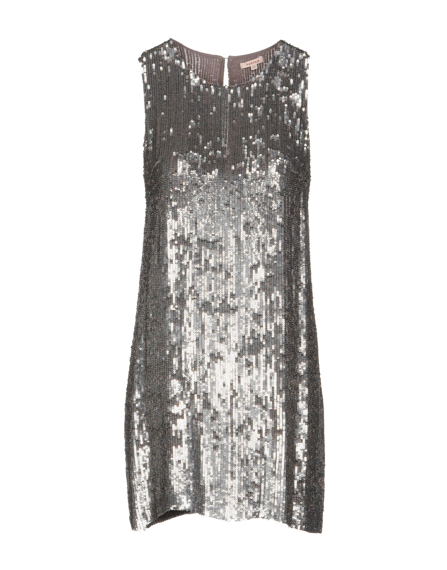 P.a.r.o.s.h. Short Dress In Silver