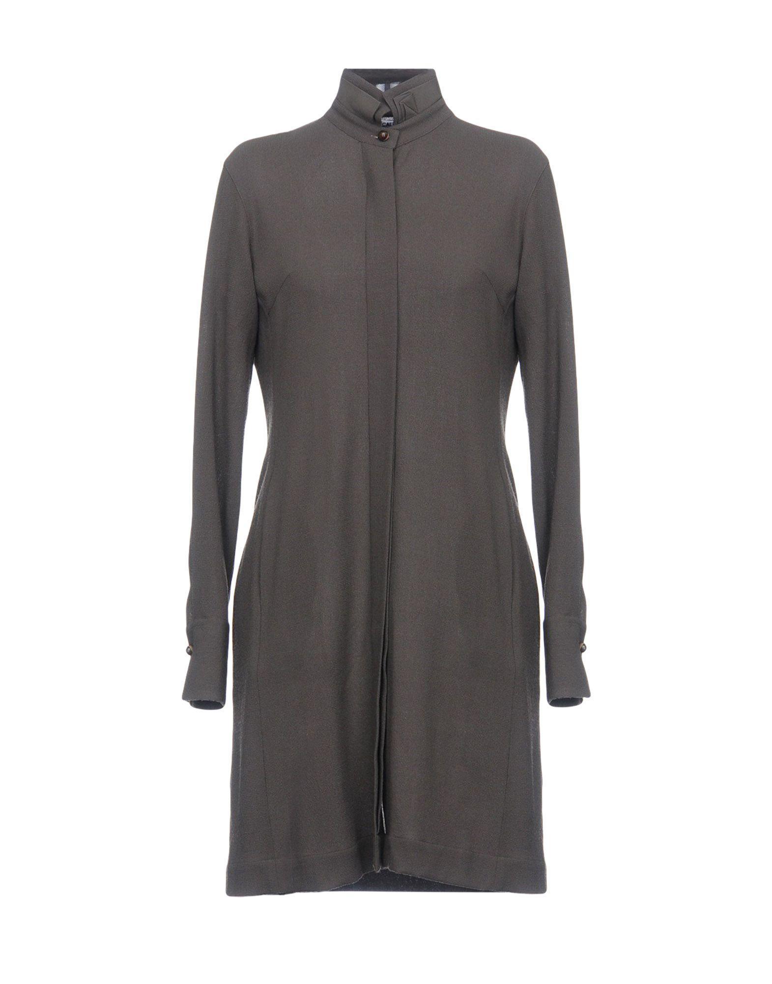Caliban Shirt Dress In Khaki