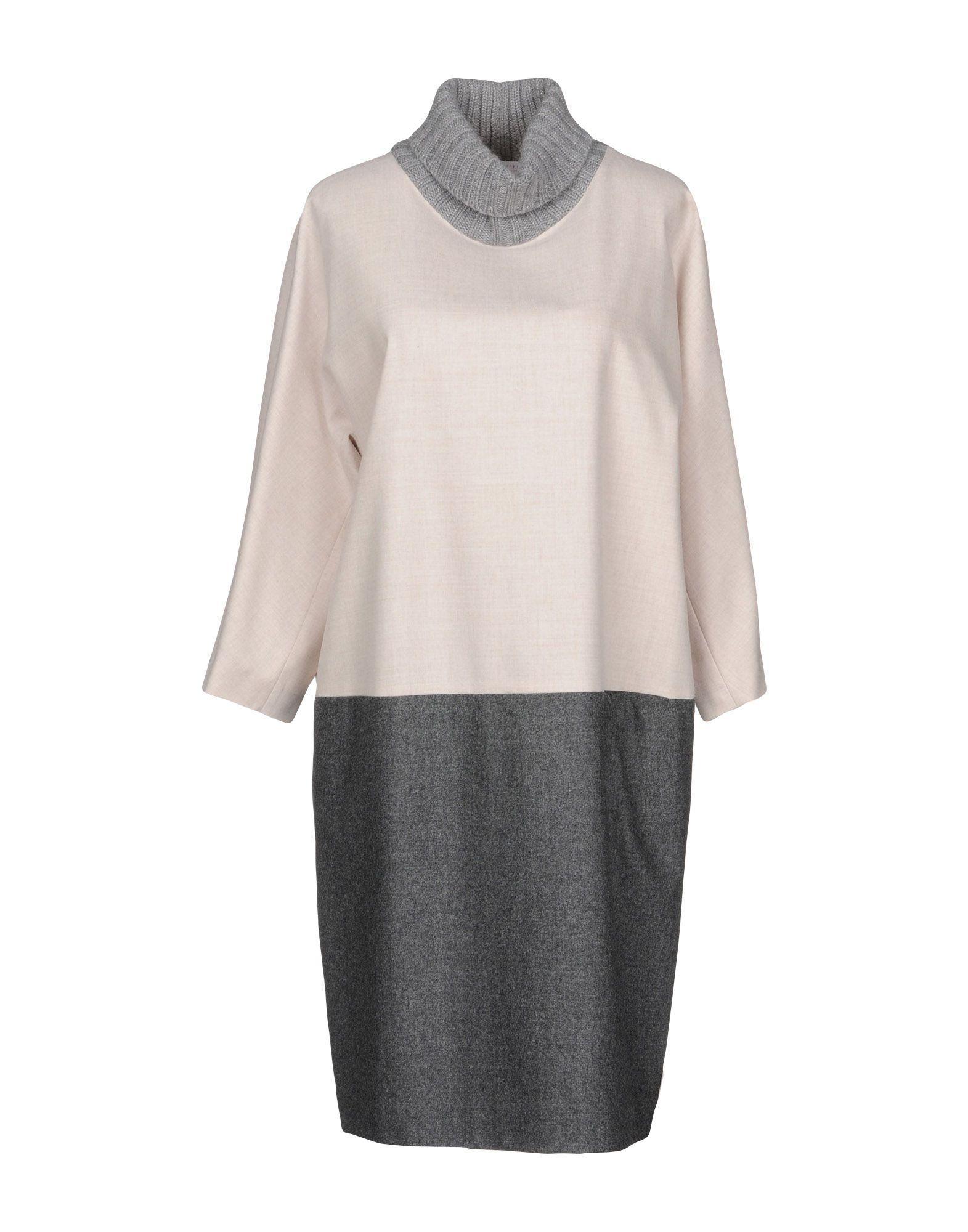 Fabiana Filippi Short Dress In Beige