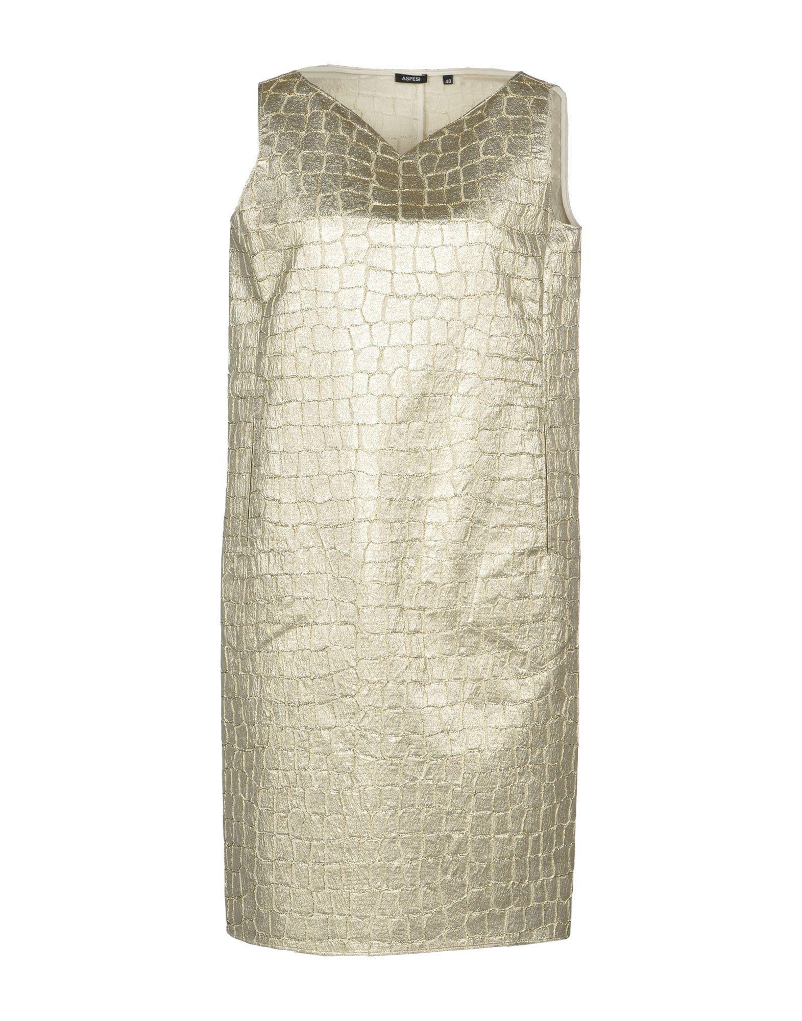 Aspesi Short Dresses In Gold