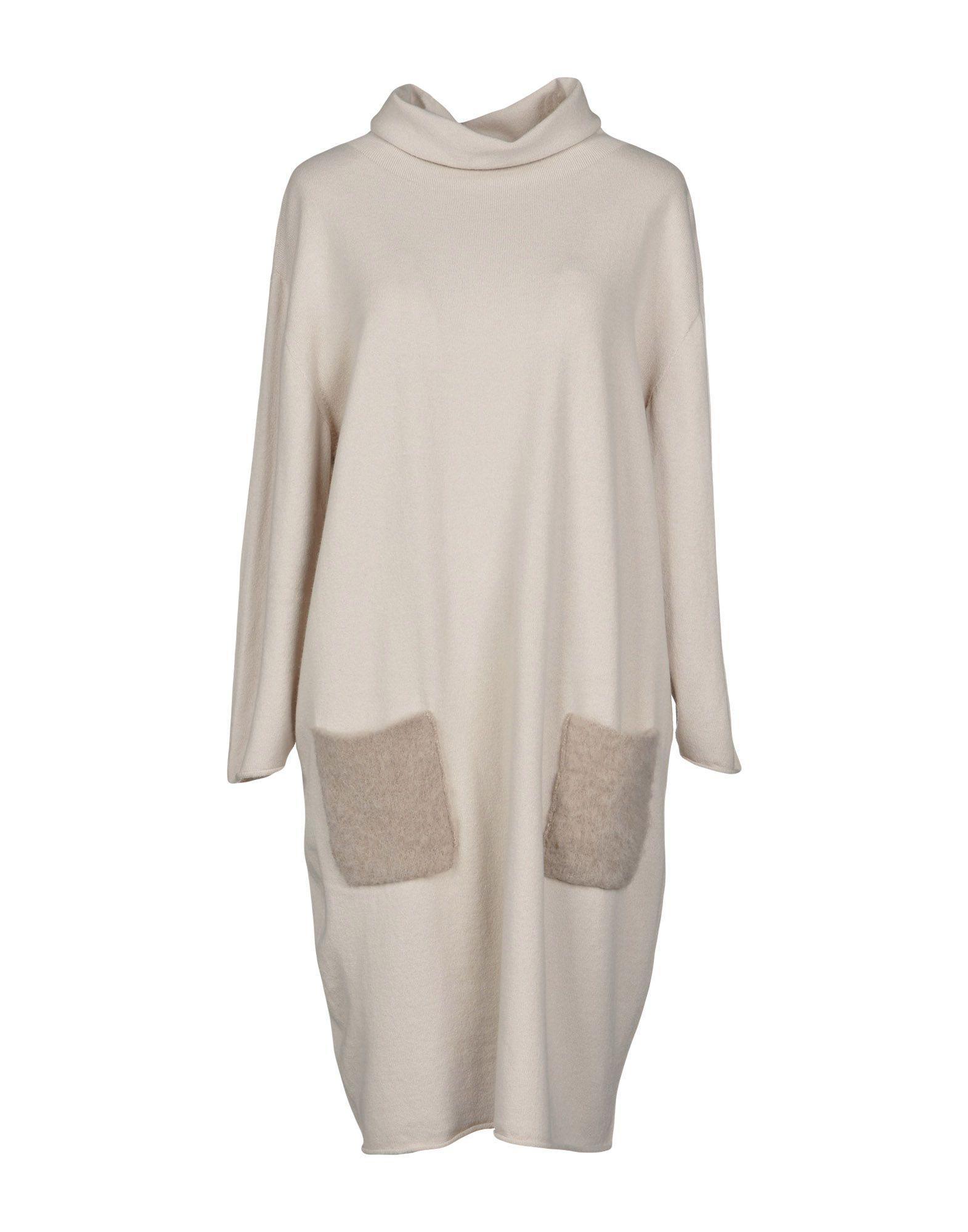 Lamberto Losani Short Dress In Beige