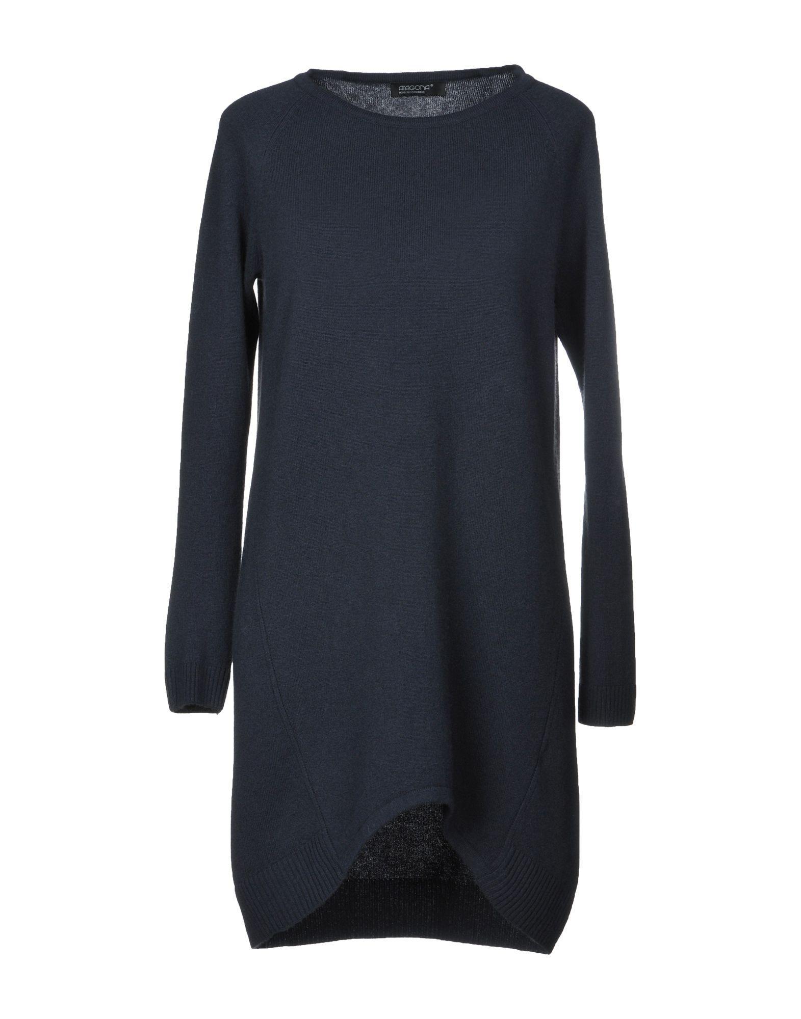 Aragona Short Dress In Steel Grey