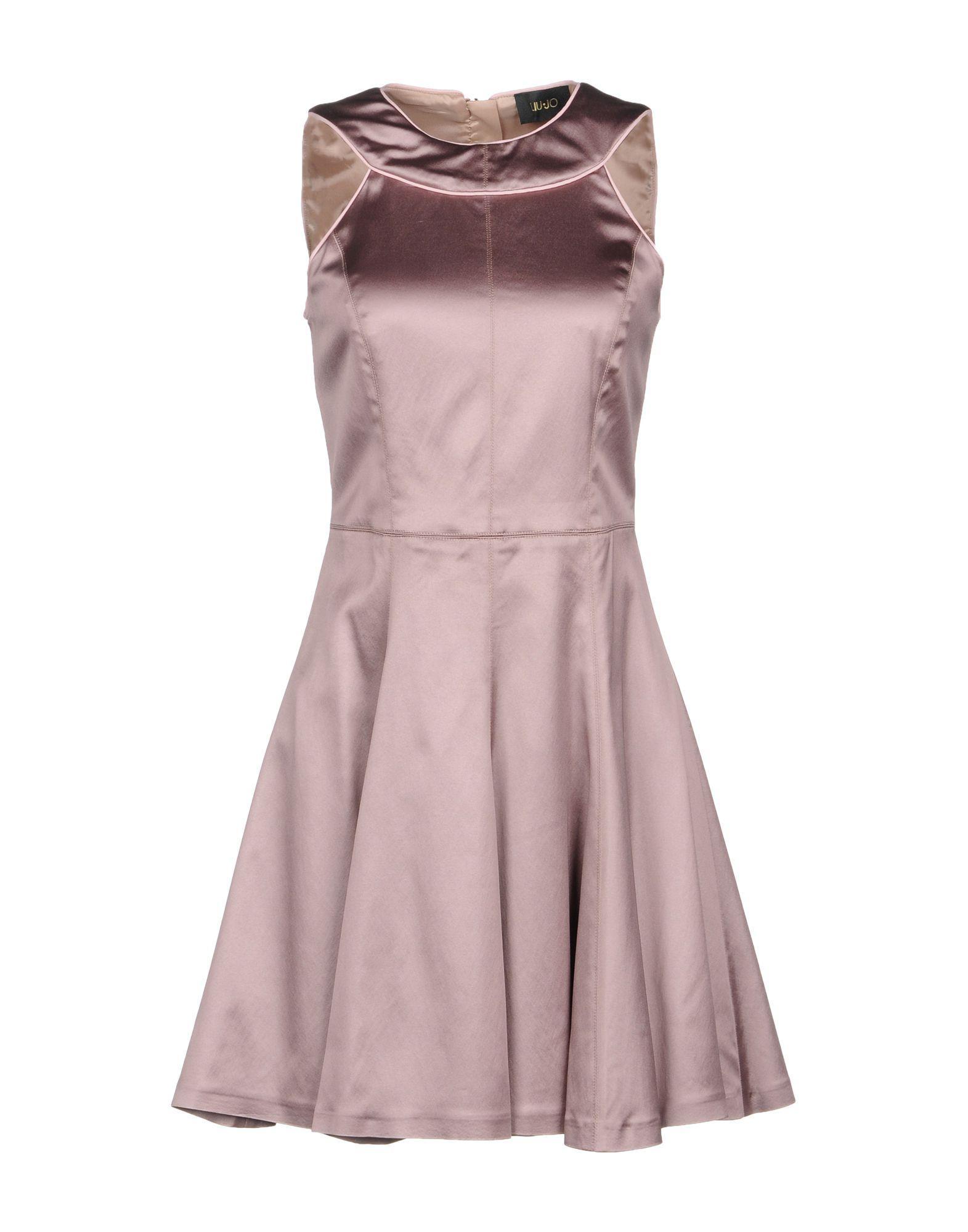 Liu •jo Short Dress In Pale Pink