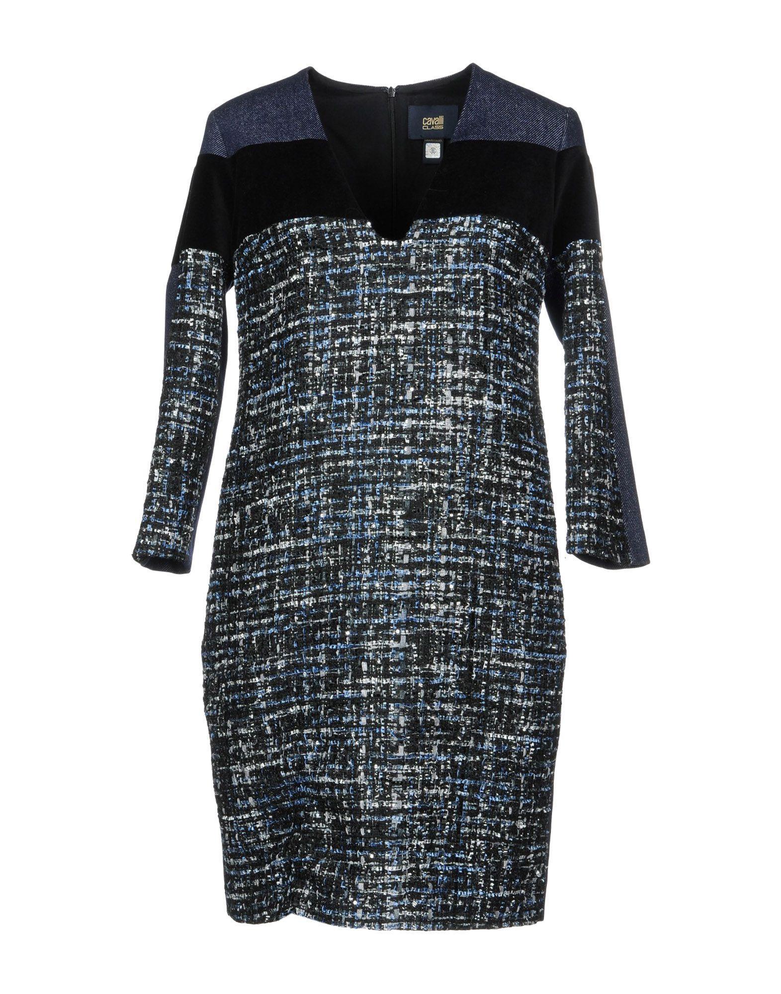 Class Roberto Cavalli Denim Dress In Dark Blue