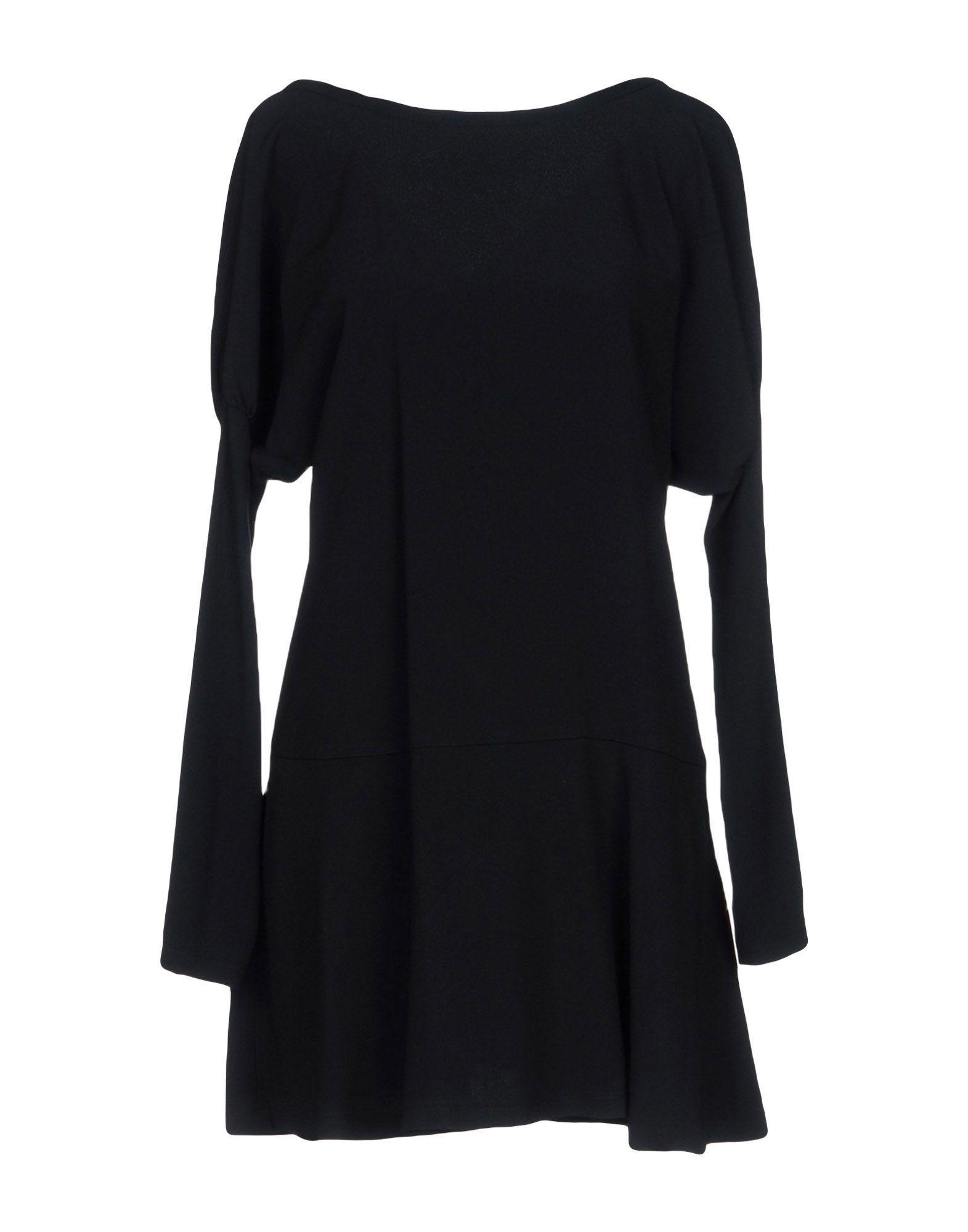 Red Valentino Short Dresses In Black