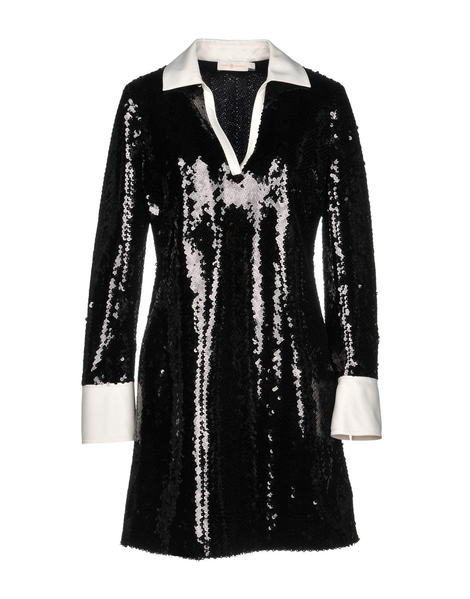 Tory Burch Short Dresses In Black
