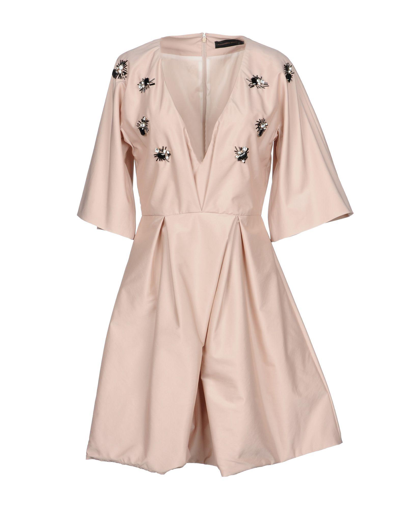 Alessandro Dell'acqua Short Dress In Light Pink