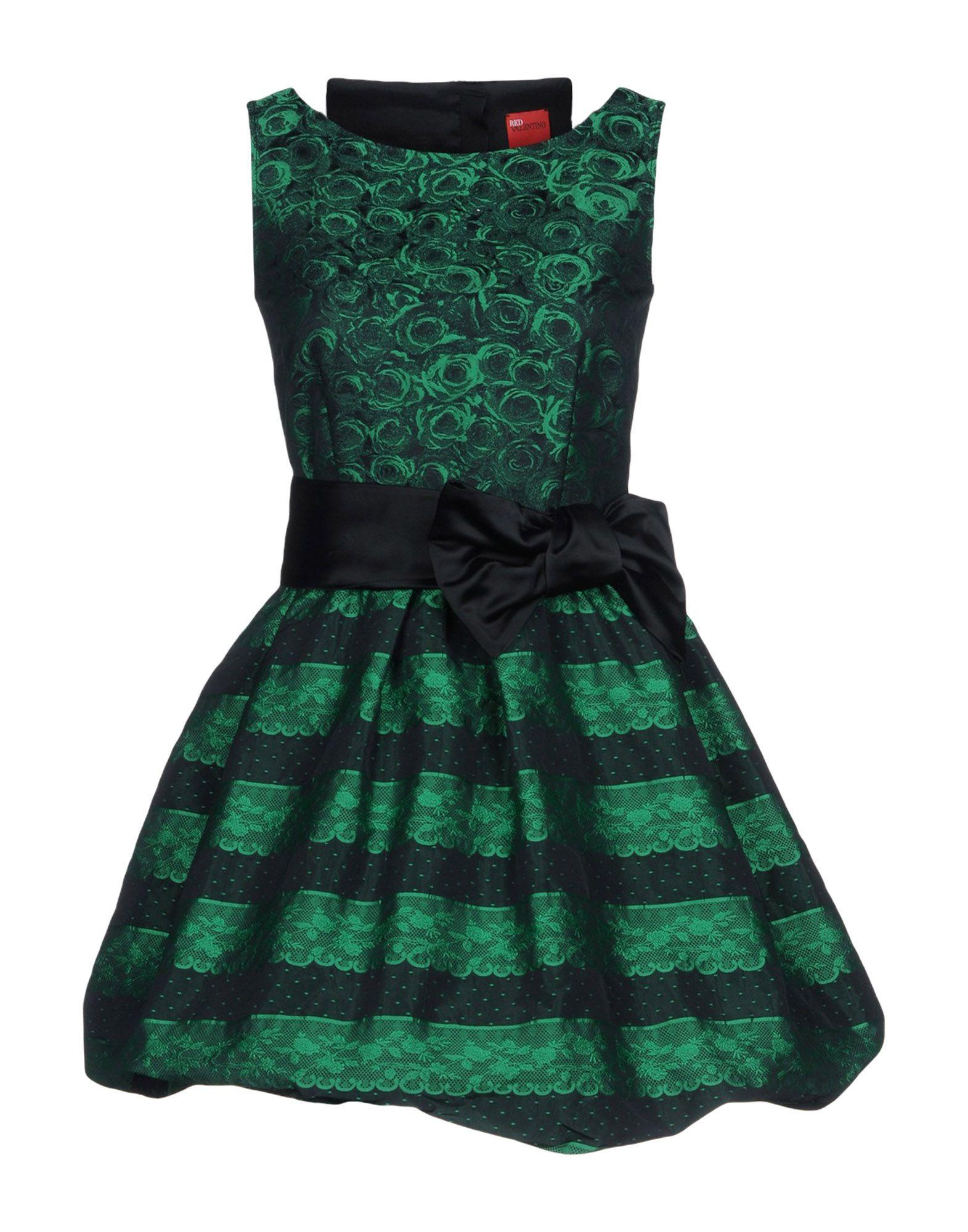 Red Valentino Short Dress In Green