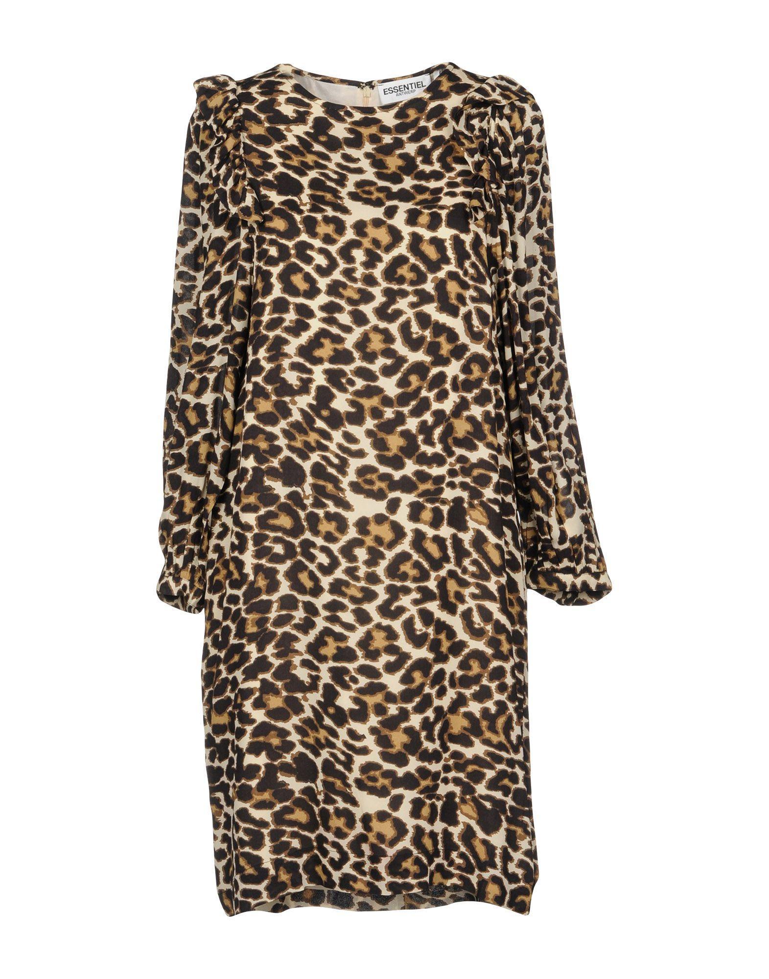 Essentiel Antwerp Short Dress In Khaki
