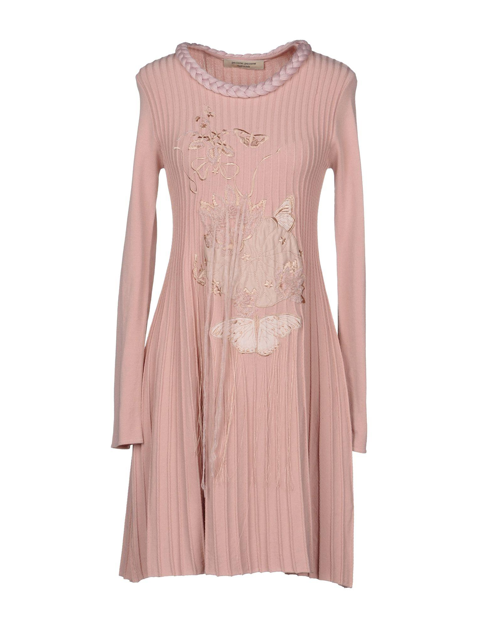Piccione.piccione Piccione. Piccione Short Dresses In Pink