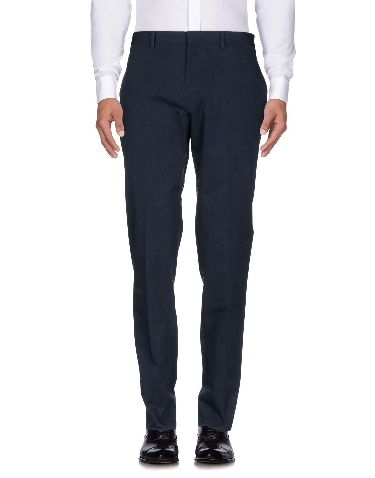 Ps By Paul Smith Casual Pants In Dark Blue