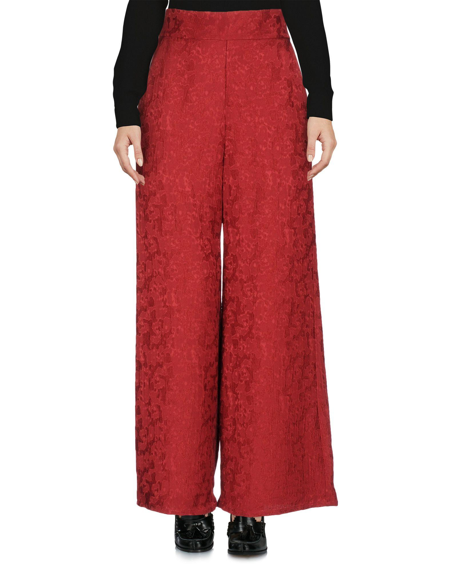 Sid Neigum Casual Pants In Red