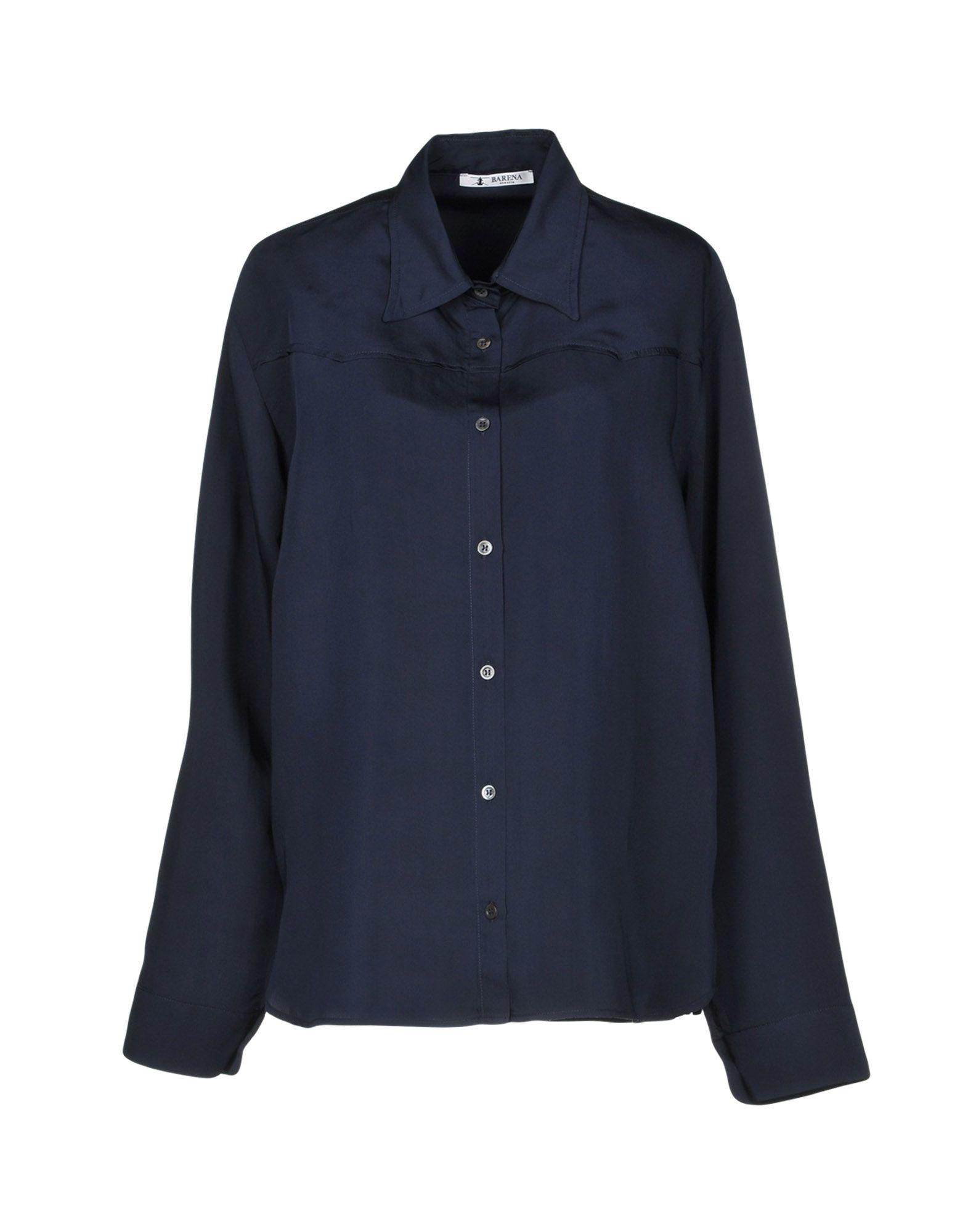 Barena Venezia Solid Color Shirts & Blouses In Dark Blue