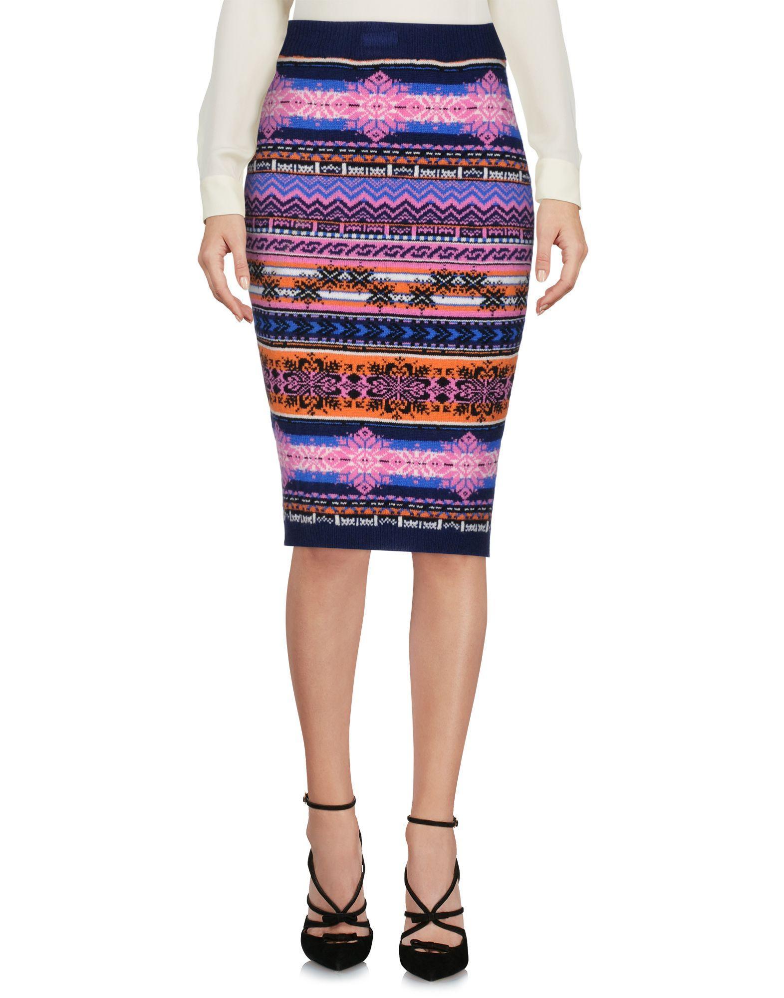 Sibling Knee Length Skirt In Dark Blue