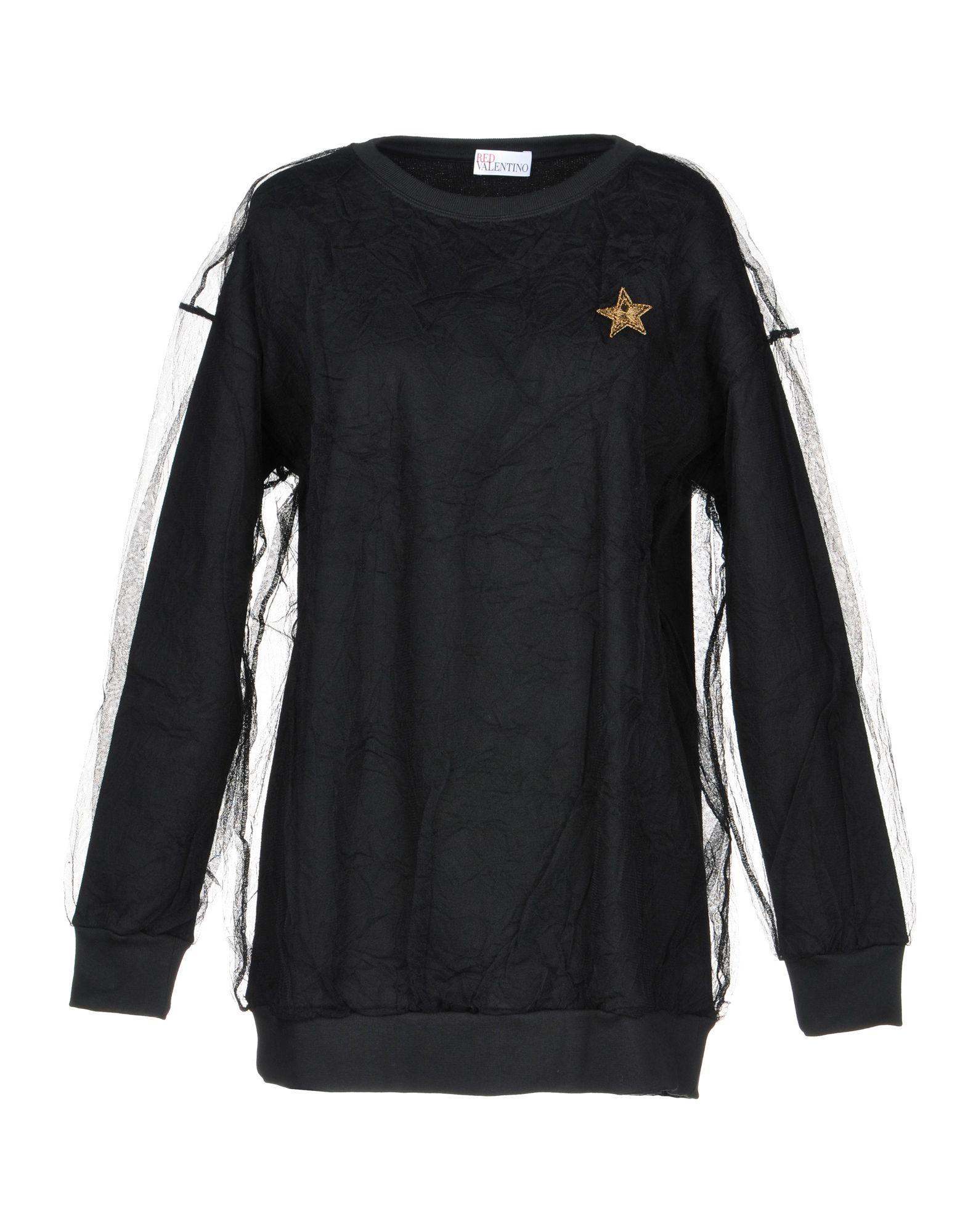 Red Valentino Sweatshirt In Black