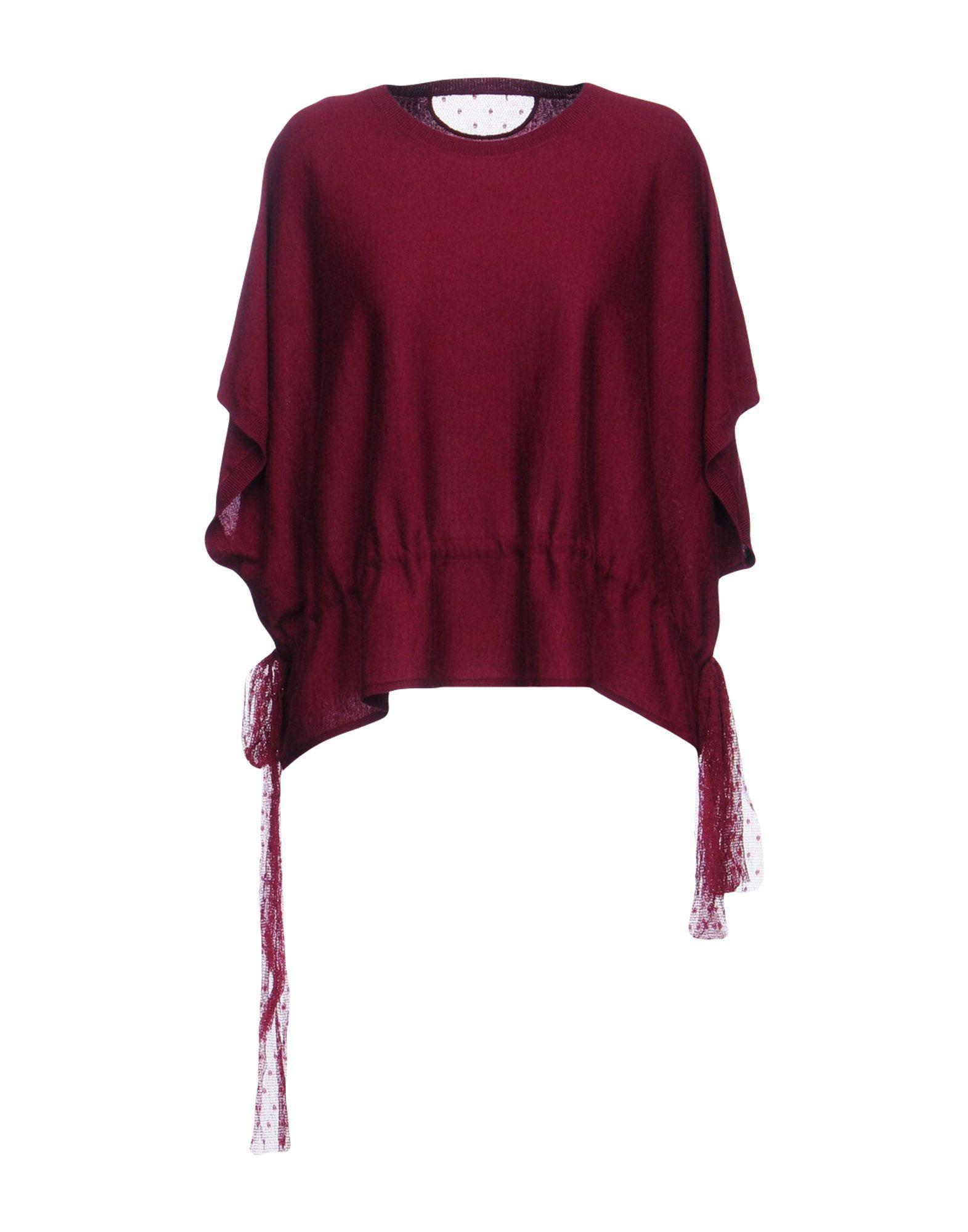 Red Valentino Cashmere Blend In Maroon