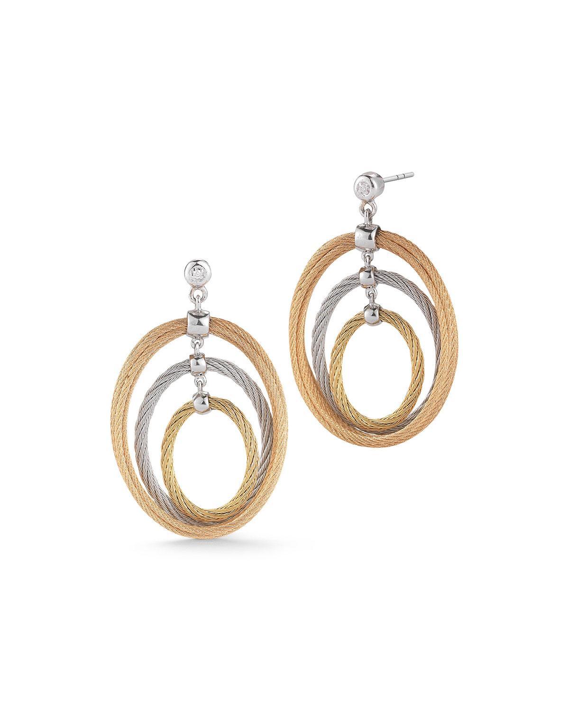 f138aedd1c783 Multi-Hoop Drop Earrings W/ Diamonds