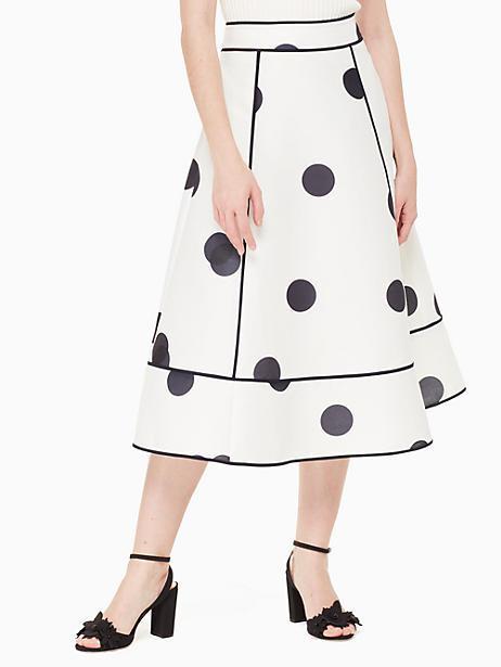 e3282253f032 Kate Spade Dee Dot Mariane Skirt In Cream/Rich Navy | ModeSens
