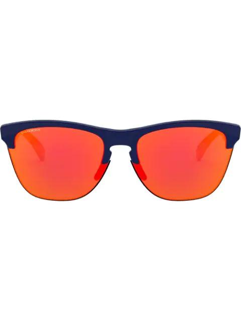 Oakley Oo9374 Matte Black Ink Sunglasses In Blue