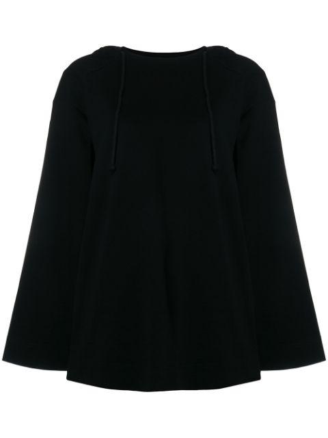 Juun.j Slouched Hooded Sweater - Black