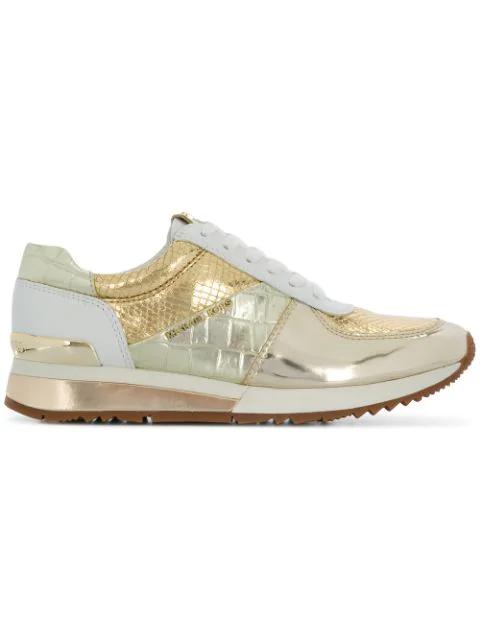 Michael Michael Kors Allie Sneakers In 111-Plgld/Opt