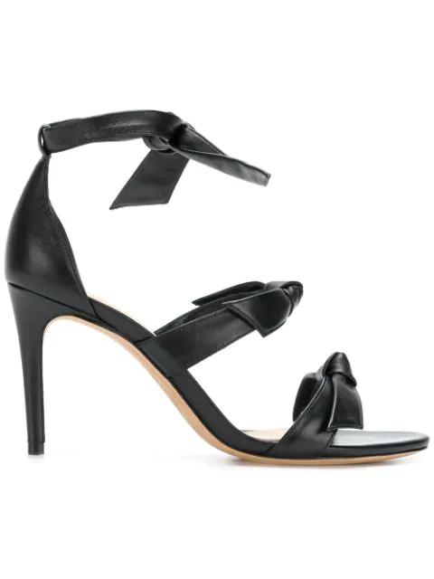 Alexandre Birman Bow Tie High Heel Sandals In Black