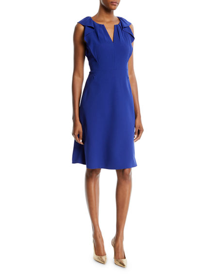 1e59a6e67ea1 Elie Tahari Elleanora Ruffled Sheath Dress In Crocus | ModeSens