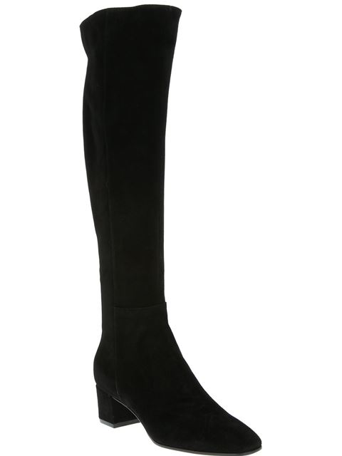 Gianvito Rossi Western Slouch Suede 45mm Boot In Black
