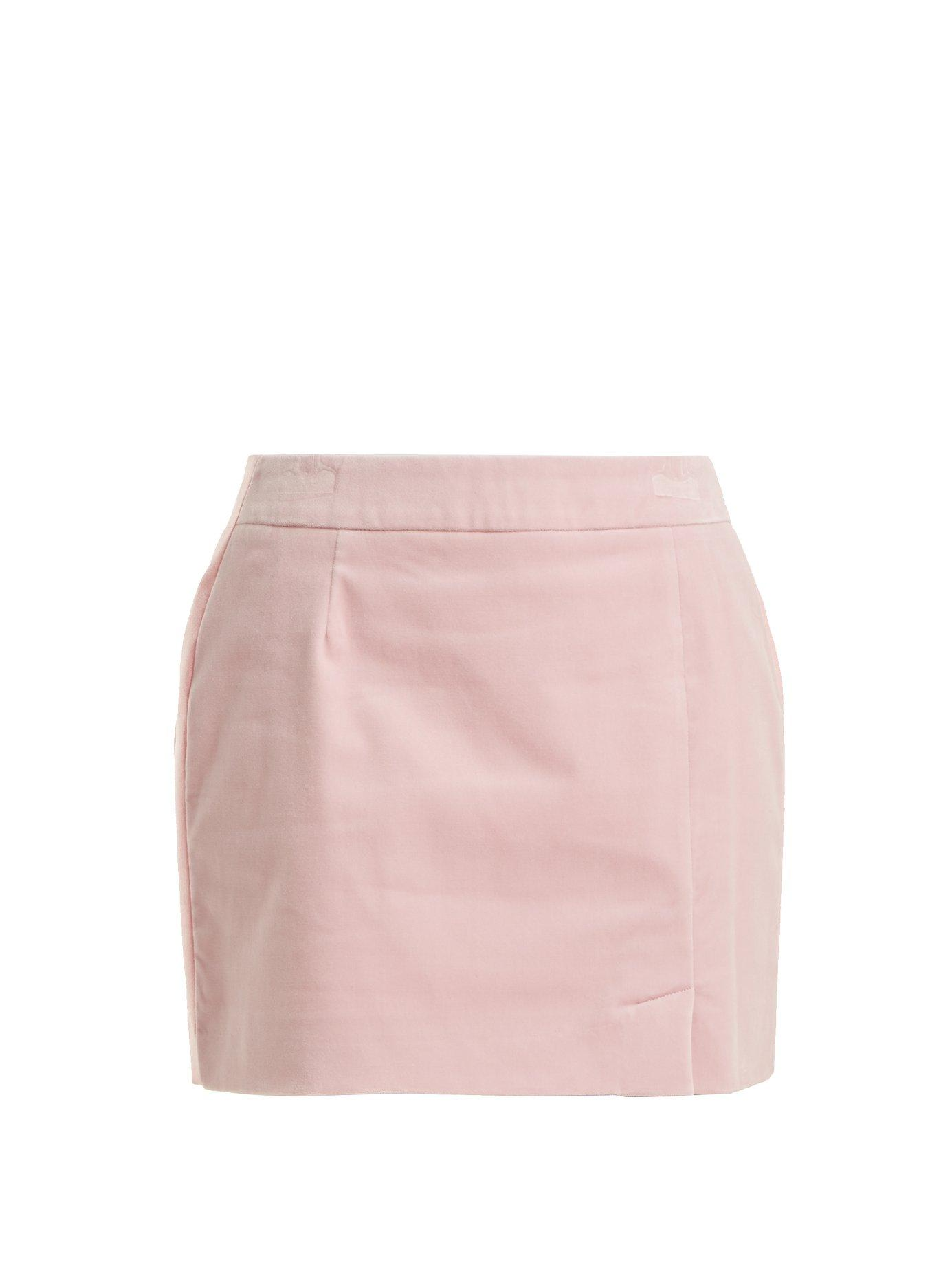 b1df94090 Bella Freud Alexa Velvet Mini Skirt In Light Pink | ModeSens