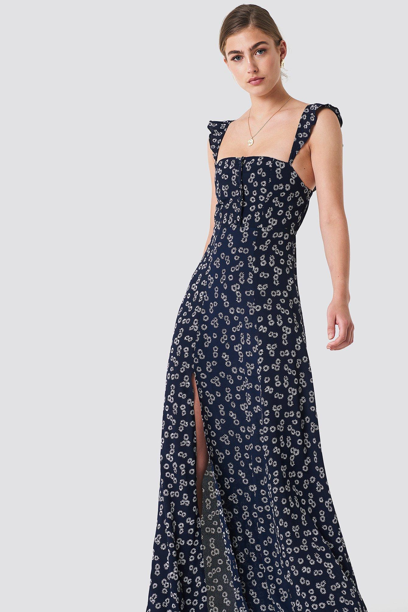 310f5b6d3d7 Flynn Skye Bardot Maxi Dress - Blue