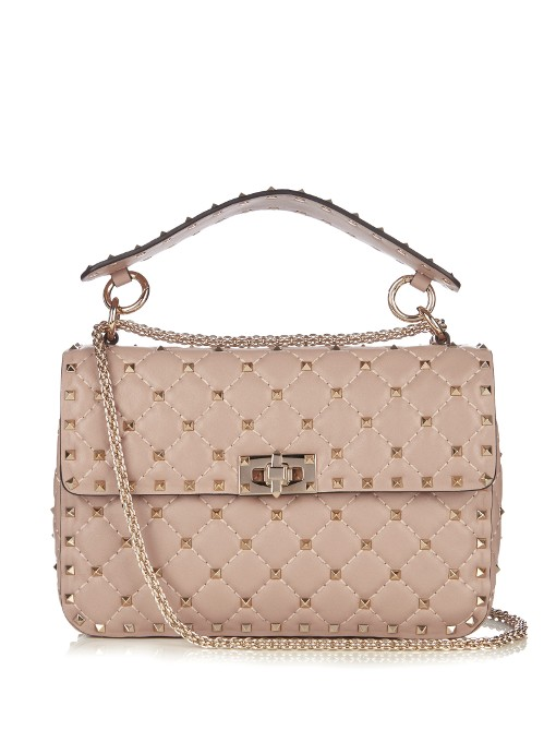 32b01ee061 VALENTINO. Valentino - Rockstud Spike Small Quilted Leather Shoulder Bag ...