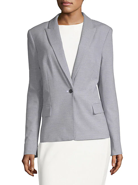 Calvin Klein Classic Office Jacket In Navy-White