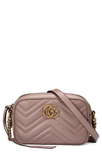 abea90d03675 Gucci Small Gg Marmont 2.0 MatelassÉ Leather Camera Bag In Nude ...