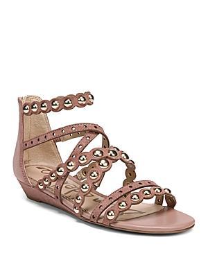 3873eeb69660 Sam Edelman Women s Dustee Studded Suede Gladiator Sandals In Dusty Rose  Suede