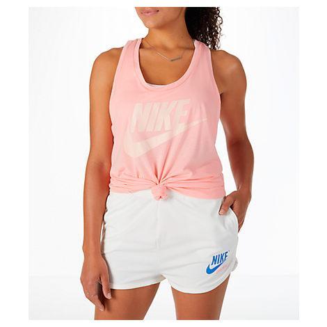5fb92366cc Nike Sportswear Essential Racerback Tank Top In Pink | ModeSens