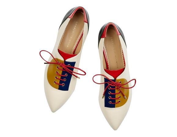 Charlotte Olympia 'Modern' Lace-Up Shoes In Multi