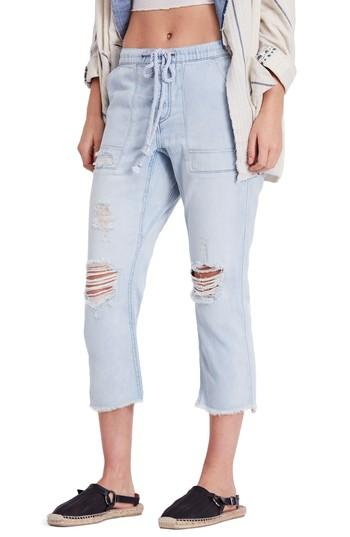 c2838b64431b4 Free People Northern Sky Ripped Crop Jeans In Blue