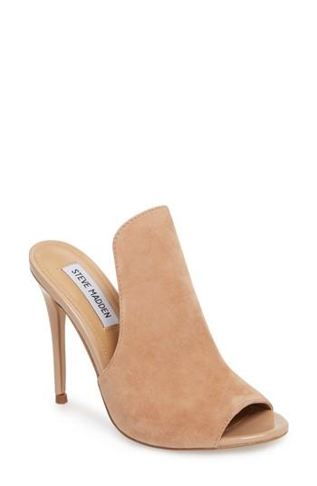 92cb29bb28 Steve Madden Sinful Sandal In Nude Suede   ModeSens