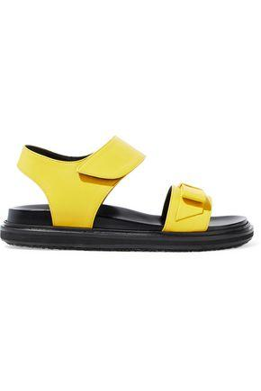 Marni Woman Bow-Embellished Leather Sandals Yellow