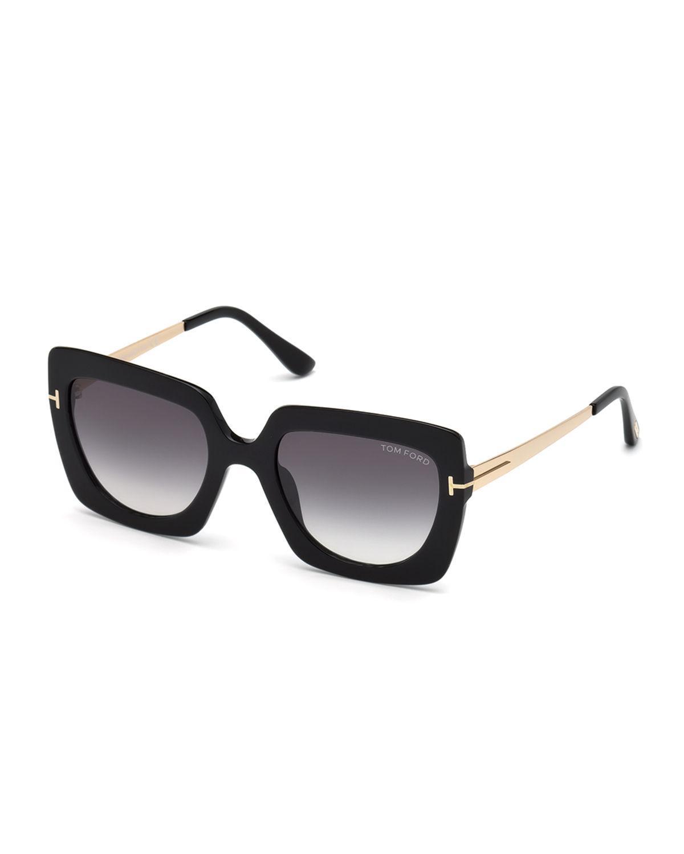 1fe4b8db1c Tom Ford Jasmine 53Mm Sunglasses - Shiny Black  Gradient Smoke ...