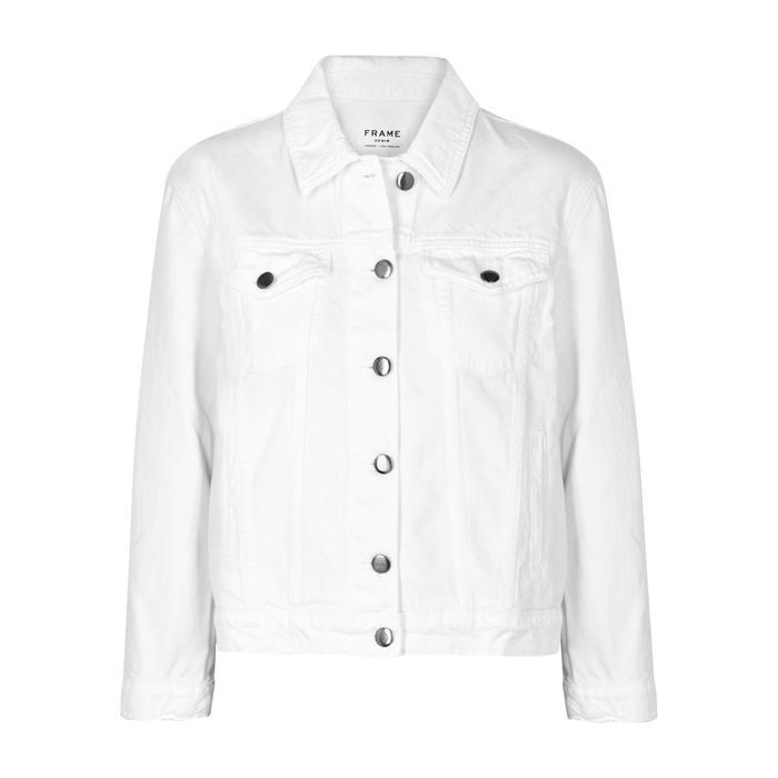 Frame White Denim Jacket