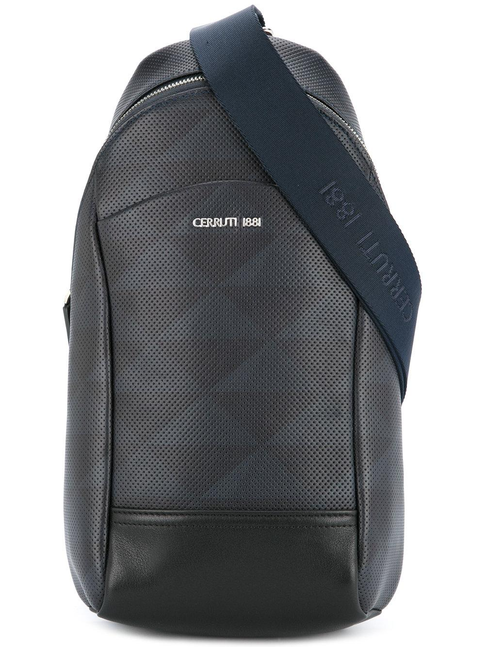 8db5103a06 Cerruti 1881 Perforated Single Strap Backpack - Black | ModeSens