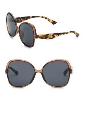 ff562b41d363d DIOR. 60Mm Nuance Square Sunglasses in Brown.  325 325. Available From 1  Store. Buy from Saks Fifth Avenue