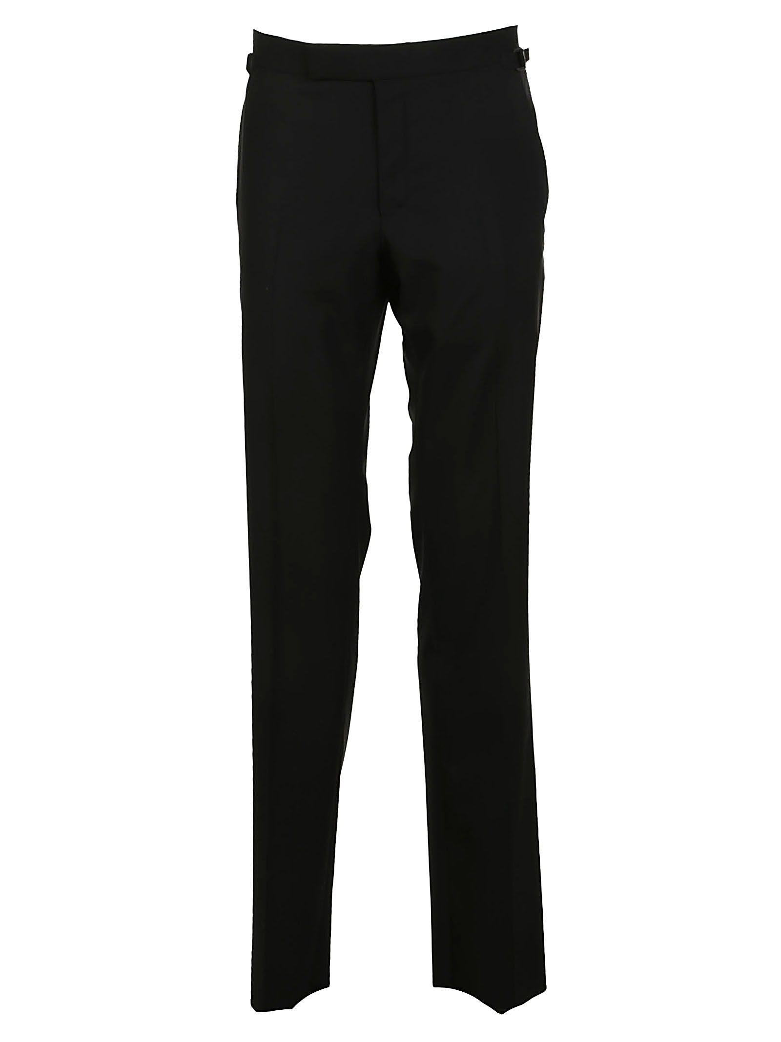 Tom Ford Tailored Straight-Leg Trousers In Black Black
