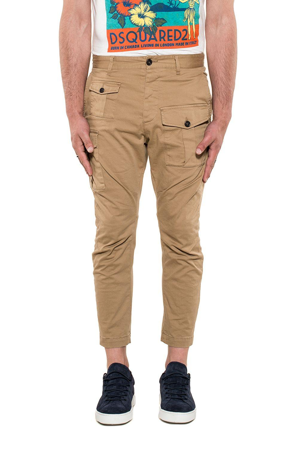Dsquared2 Khakhi Cargo Trousers In Neutral
